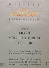 Etikett Müller-Thurgau feinherb (002)