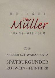 Etikett Spätburgunder Rotwein feinherb