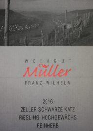 Etikett ZSK Riesling Hochgewächs feinherb