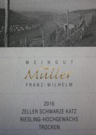 Etikett ZSK Riesling Hochgewächs trocken